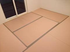 32 金沢市 ヘリ付きカラー畳 和紙表(ピンク色)(オリジナル).JPG
