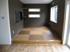 Y様邸リビング和紙畳カラー畳替え