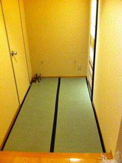 小松市粟津温泉のとや様 廊下畳敷き工事